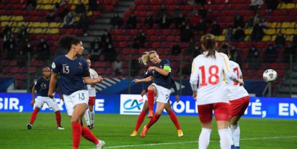Foot - Bleues - Qualifications Euro 2022:  la France écrase la Macédoine du Nord