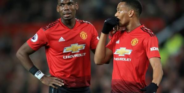 Foot - ANG - MU - Anthony Martial et Paul Pogba titulaires avec Manchester United pour affronter Liverpool