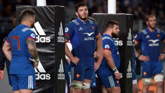 EN IMAGES. Rugby:  revivez l'humiliation du XV de France face aux All Blacks