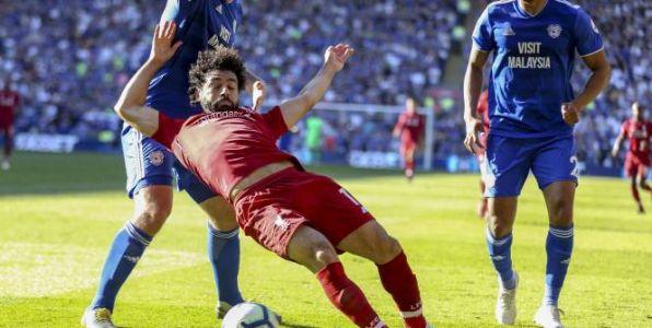 Foot - ANG - Liverpool - L'entraîneur de Cardiff Neil Warnock accuse Mohamed Salah d'avoir plongé pour obtenir un penalty