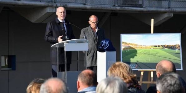 Rugby - FFR - Bernard Laporte inaugure le stade Pierre-Camou à Marcoussis