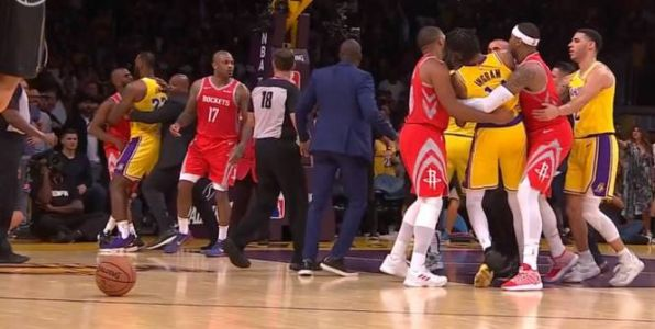 Basket - NBA - Bagarre au Staples Center en fin de match entre les Lakers et les Rockets