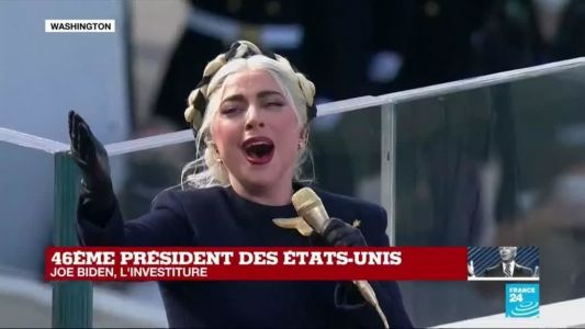 REPLAY - Investiture de Joe Biden:  LADY GAGA chante l'hymne national américain