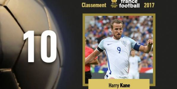 Foot - Ballon d'Or - Ballon d'Or 2017:  Harry Kane se classe 10e