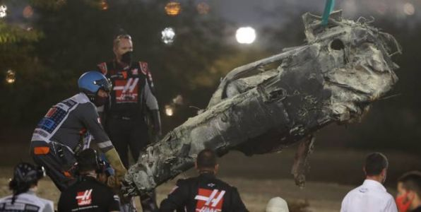 F1 - GP du Bahrein - Les images de l'effroyable accident de Romain Grosjean à Bahreïn