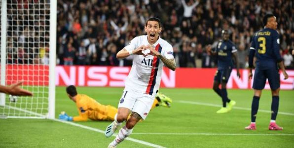 Foot - C1 - PSG - PSG - Real Madrid:  Angel Di Maria a soigné sa 100e en Ligue des champions