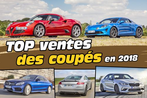 Top 35 des ventes de coupés en France en 2018