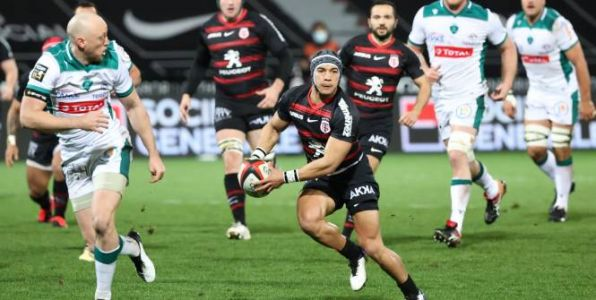 Rugby - Top 14 - ST - Cheslin Kolbe à l'ouverture contre LaRochelle
