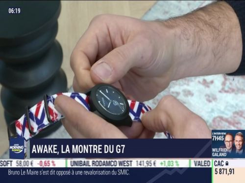 La France qui bouge:  Awake, la montre du G7  09/12