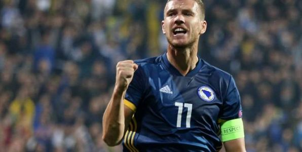 Foot - L. nations - Ligue des nations:  le doublé d'Edin Dzeko face à l'Irlande du Nord (2-0) en vidéo
