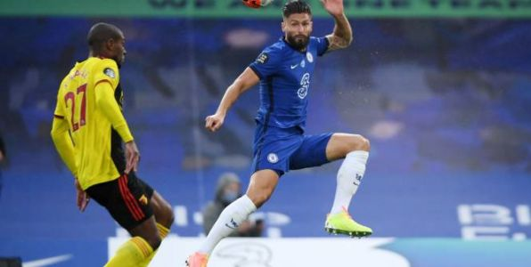 Foot - ANG - Premier League:  Chelsea domine Watford sans forcer avec un but d'Olivier Giroud