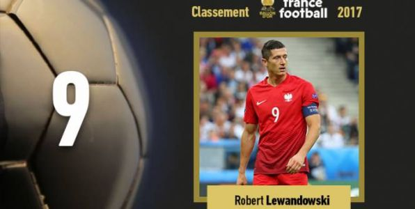 Foot - Ballon d'Or - Ballon d'Or 2017:  Robert Lewandowski se classe 9e