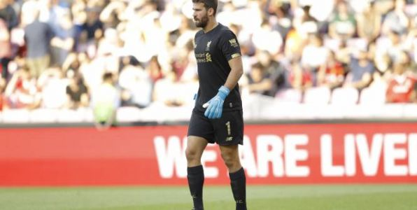 Foot - ANG - Liverpool - Angleterre:  Alisson Becker sur le retour