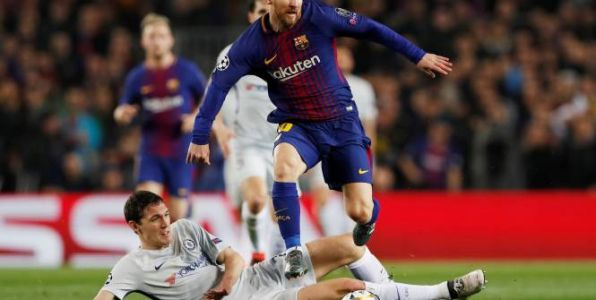 Foot - C1 - FC Barcelone:  Lionel Messi inscrit son 100e but en Ligue des champions