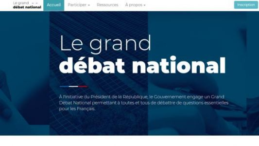 Grand débat national:  le site internet mis en ligne