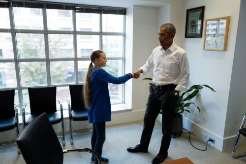 À Washington, Greta Thunberg rencontre Barack Obama