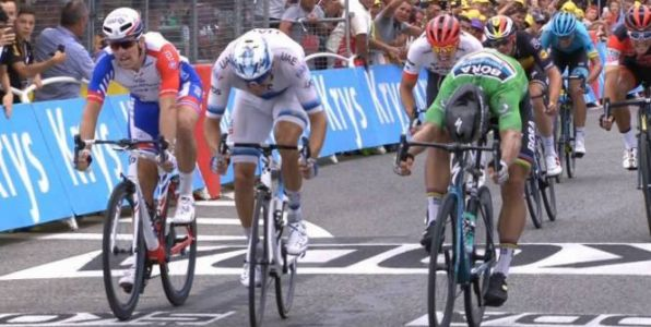 Tour de France - Tour de France:  Arnaud Démare battu, Peter Sagan s'impose à Valence